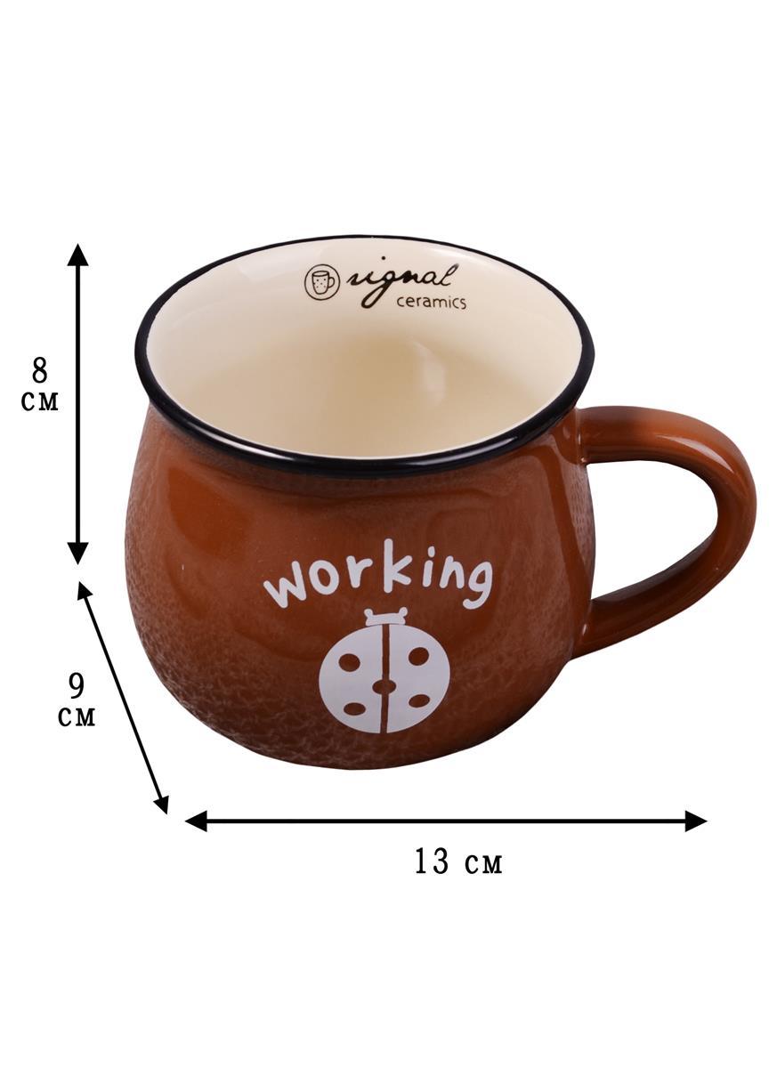 Кружка Горшок коричневый (300мл)