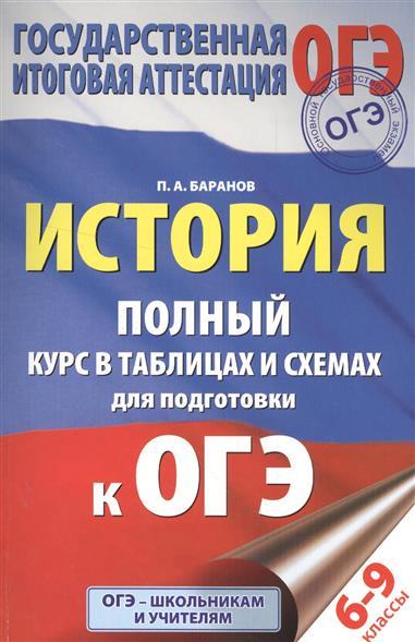 Баранов П. История. Полный курс в таблицах и схемах для подготовки к ОГЭ. 6-9 классы