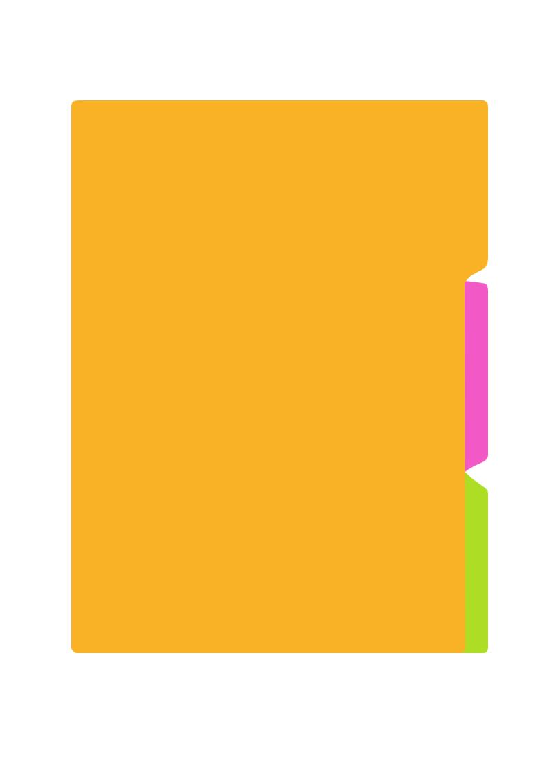 Разделитель А5 3 разд., цветной, пластик, stila