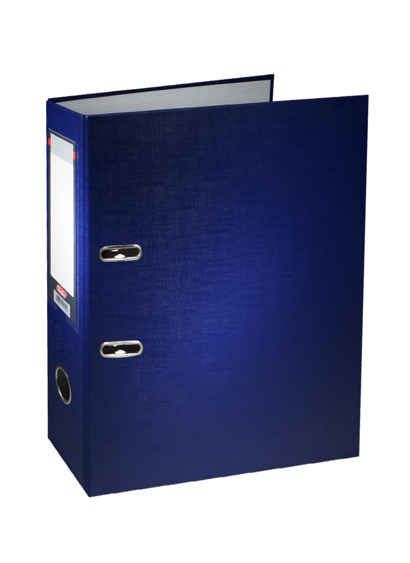 Папка архивная А4, 70 мм, синяя, Hatber