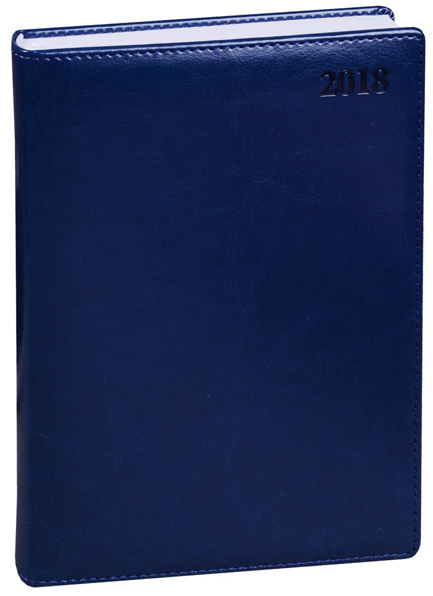 """Ежедневник датированный 2018г. А5 176 листов """"Berlin"""" синий"""