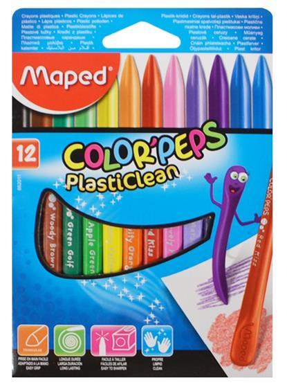 """Карандаши пластиковые цветные  """"COLORPEPS"""", 12 цв., MAPED"""