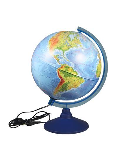 Глобус D25см физико-политический, с подсветкой, Глобен