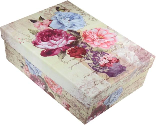 """Коробка подарочная """"Букет в вазе"""" 17*10,5*6см"""