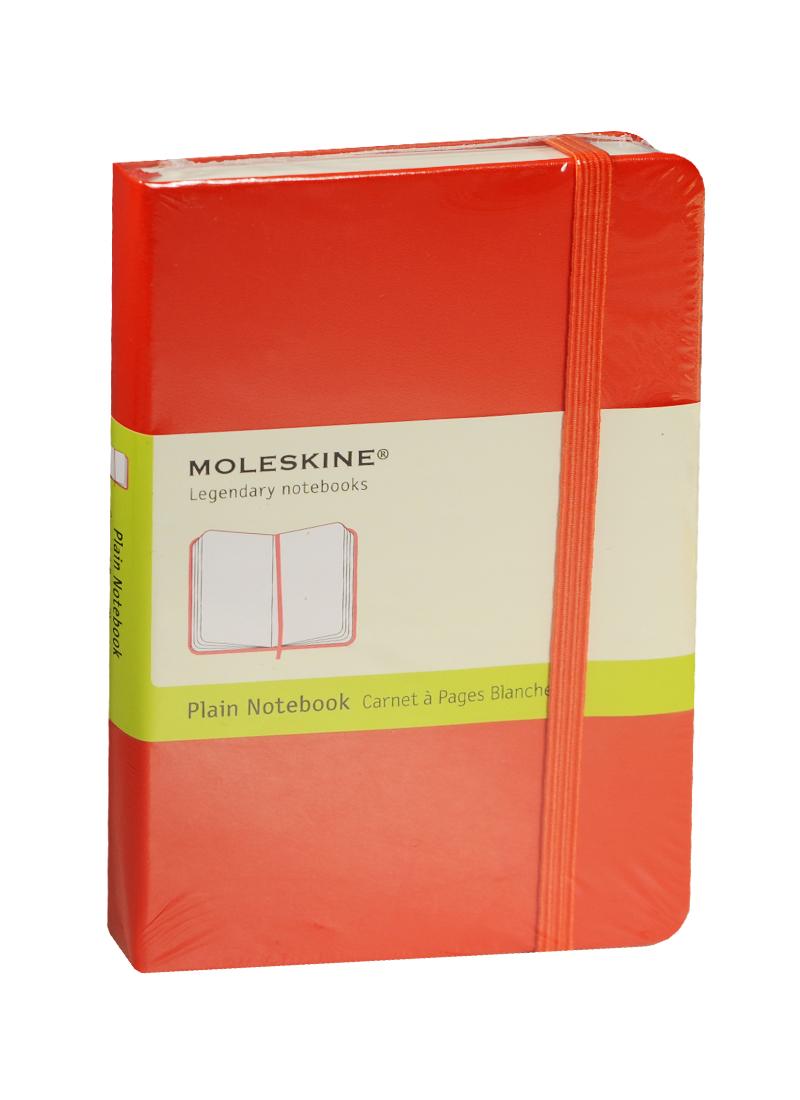 """Записная книжка А6 96л нелин. """"Classic Pocket"""" красная, жесткая обложка, резинка, Moleskine"""