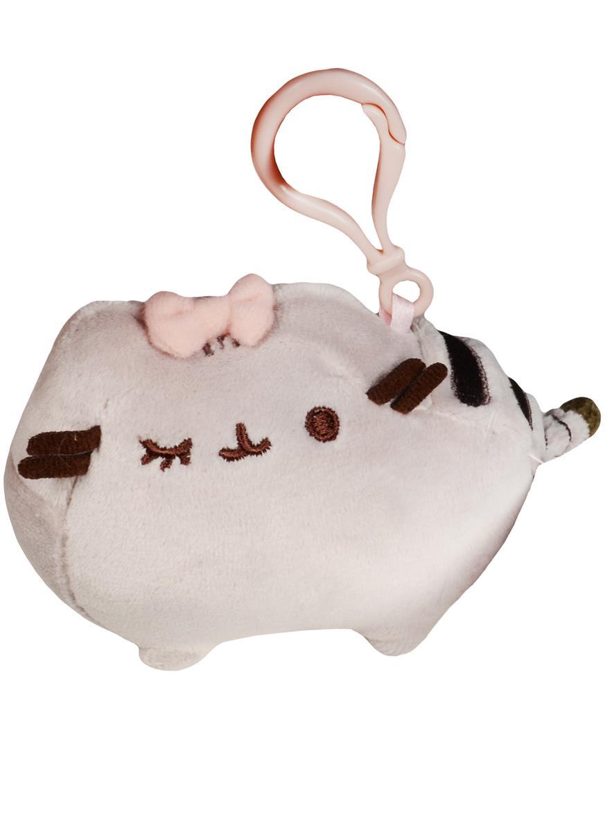 Котик Pusheen с бантиком брелок
