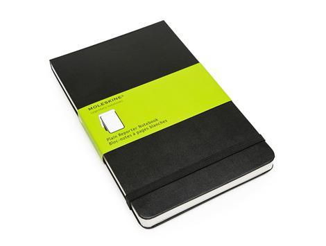 """Книга для записей А5 120л нелин. """"Reporter"""" черная, жесткая обложка, резинка, карман, Moleskine"""