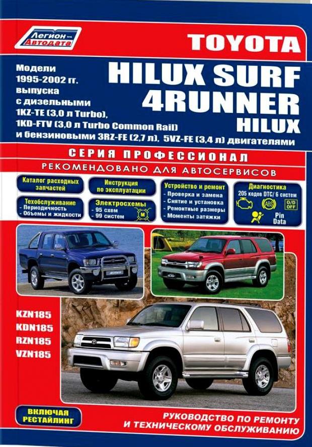 Toyota 4Runner Hilux Surf c 1995-2002гг.