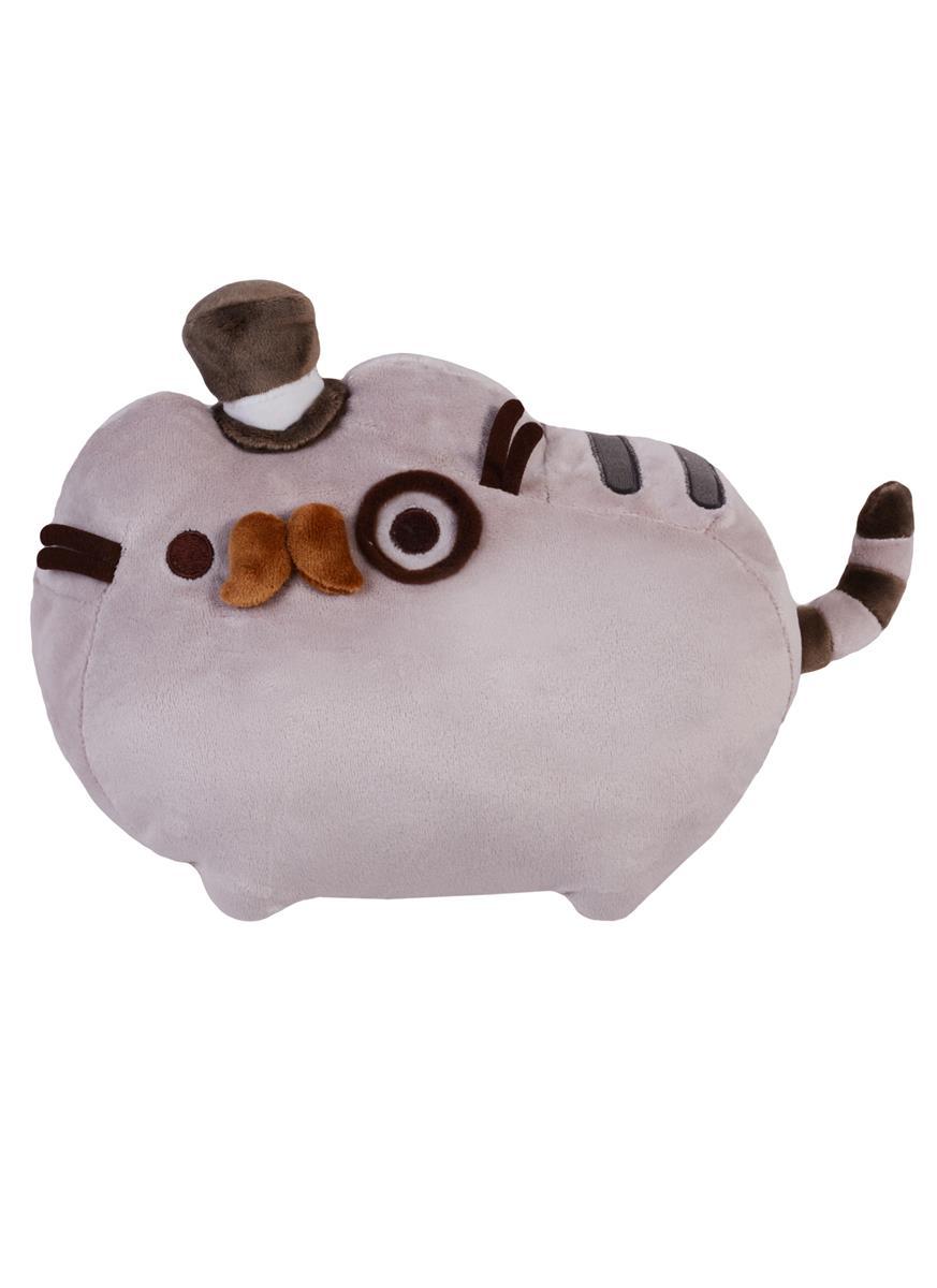 Котик Pusheen в шляпке с усами