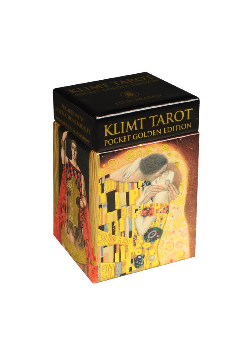 Мини Таро Золотое Климта (Mini Klimt Tarot) (на 7 языках: английский, итальянский, испанский, французский, немецкий, португальский, русский) (sp02) (Аввалон)