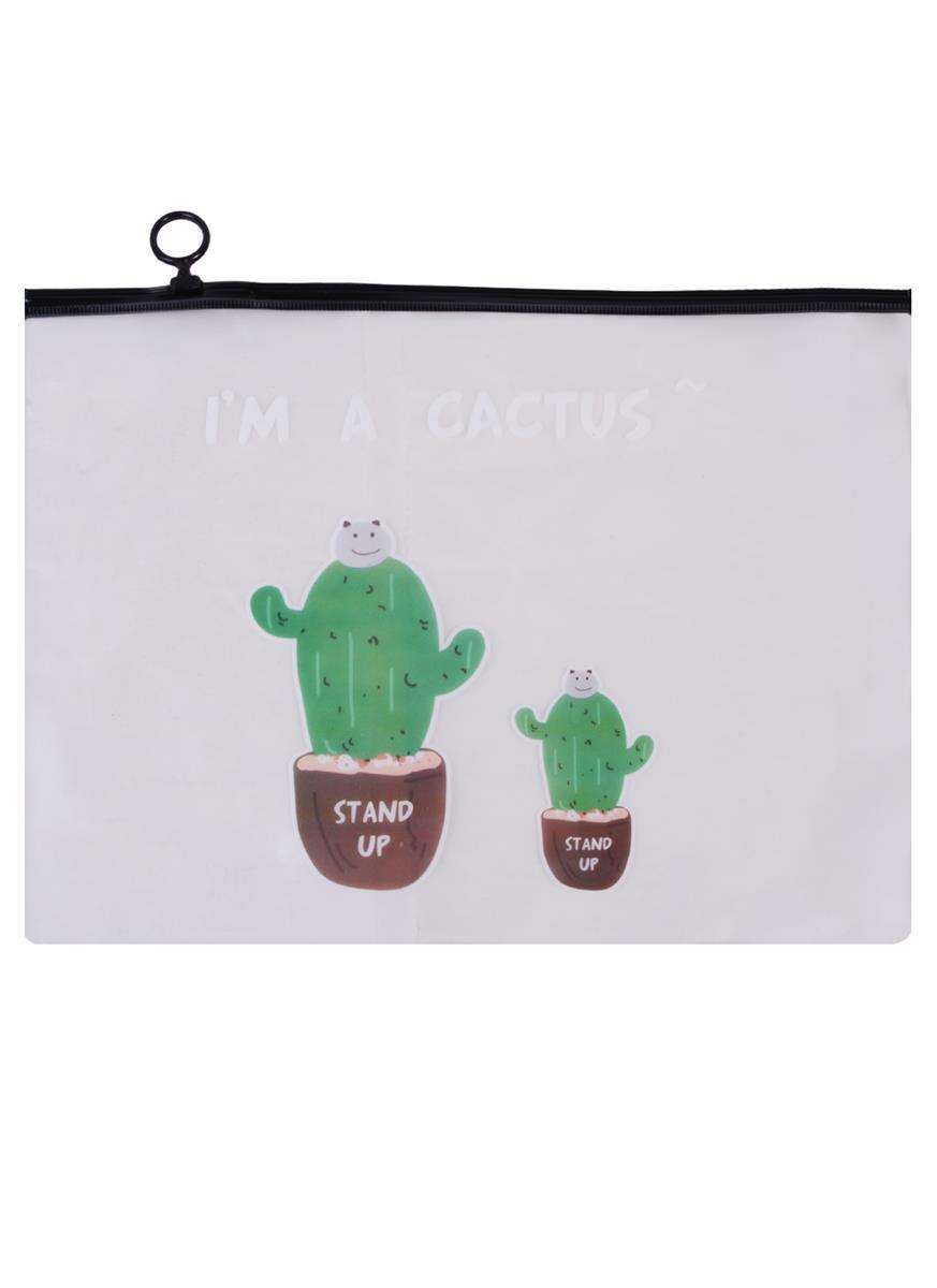 """Папка на молнии А4 """"I'm a cactus"""""""
