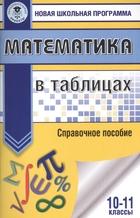 Математика в таблицах. Справочное пособие. 10-11 классы