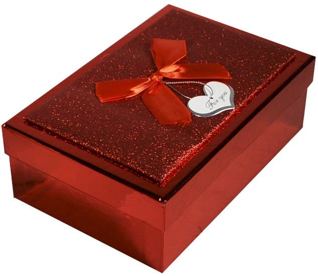 """Коробка подарочная """"Металлик красный"""", 12,5*19,5*6,5см"""