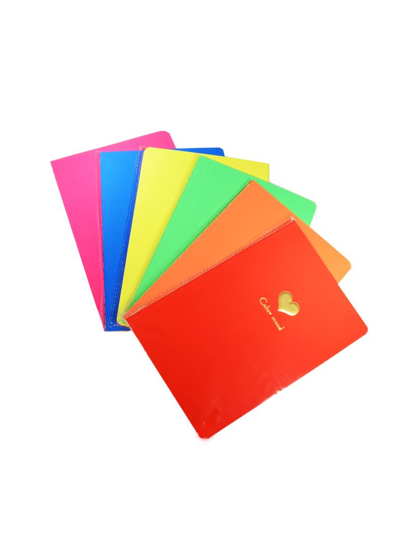 """Тетрадь 24л """"Color mood"""", с объемным сердцем, сшивка, неоновые цвета, цветной вн.блок, ассорти, AnAn"""