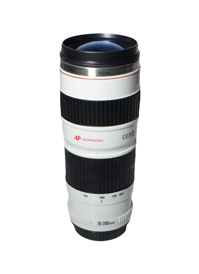 Стакан Фотообъектив с крышкой в виде линзы пластик+металл 20 см (002746) (Карамба)