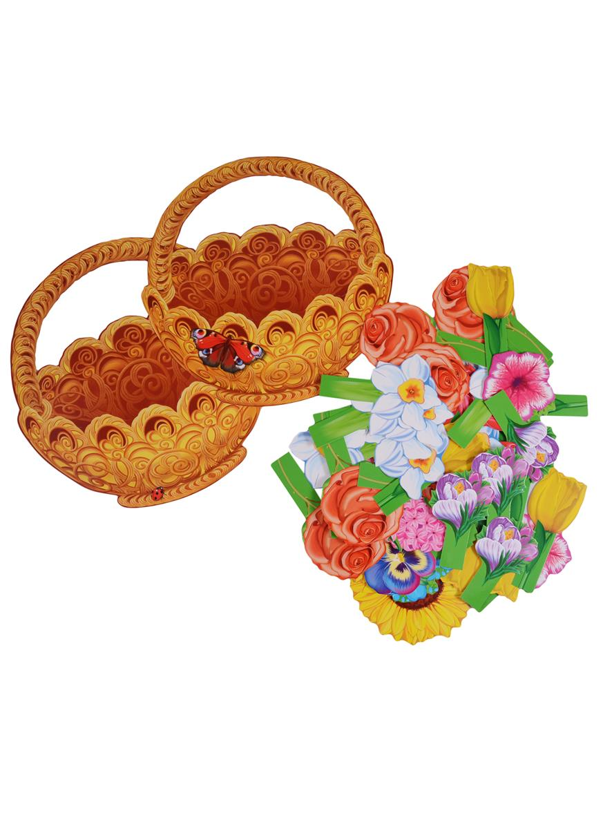 Цветкова Т. Корзинка с цветами. Дидактический набор. 65 картинок cms 33 48 композиция корзинка с цветами pavone
