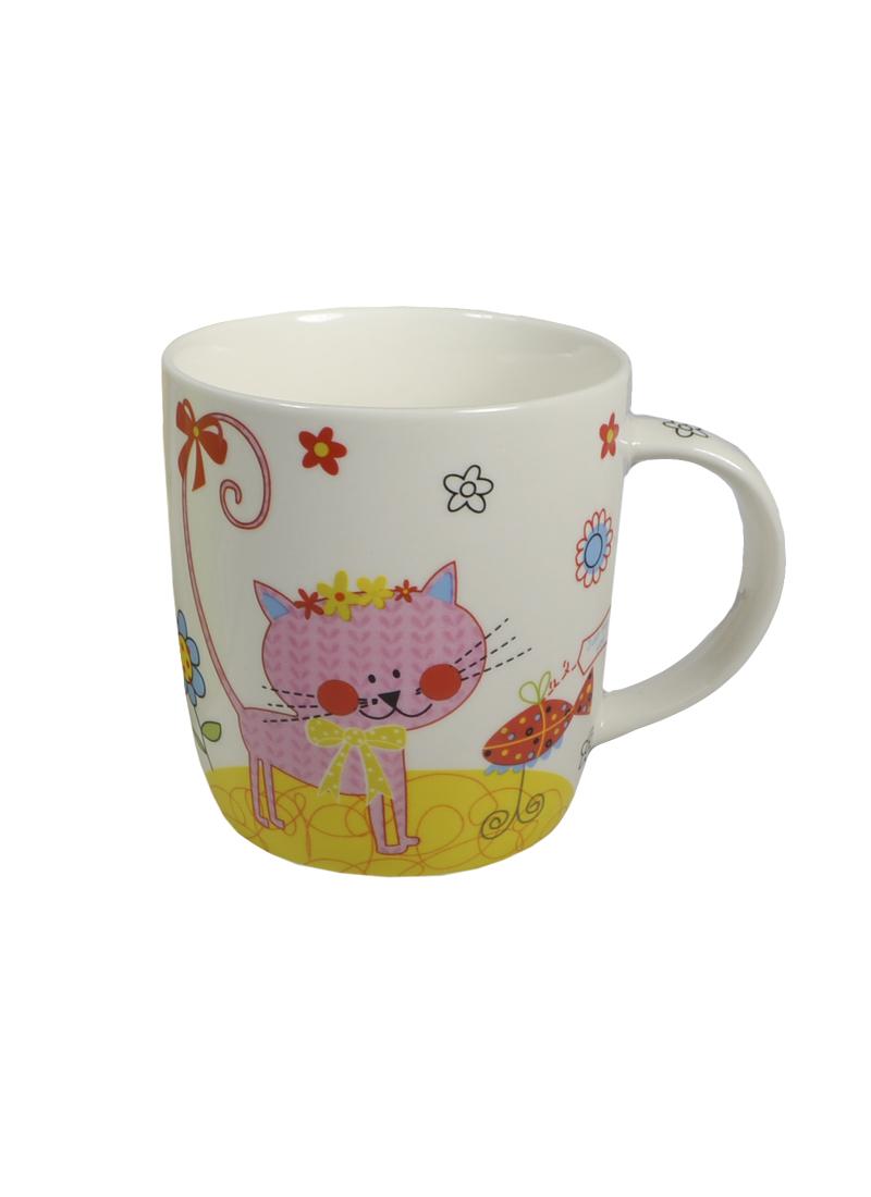 Кружка керамическая Розовый котенок в цветной коробке (350мл) (752206) (Сима-ленд)