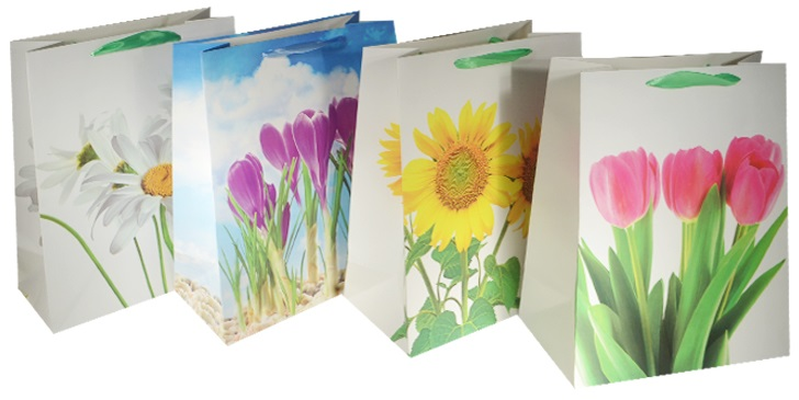 """Пакет подарочный бумажный """"Цветочная романтика"""", А4"""