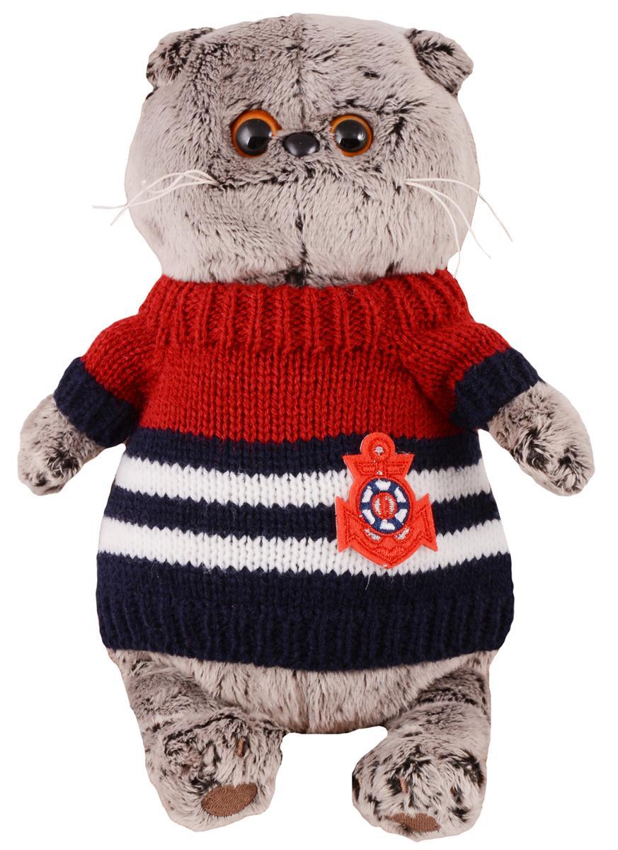 Мягкая игрушка Басик в морском свитере (19 см)