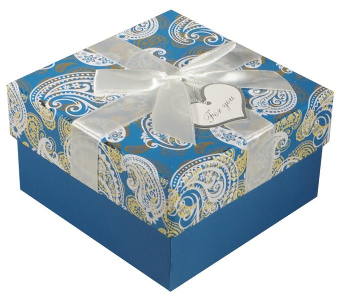 """Коробка подарочная """"Белые огурцы"""" 11*11*6см"""