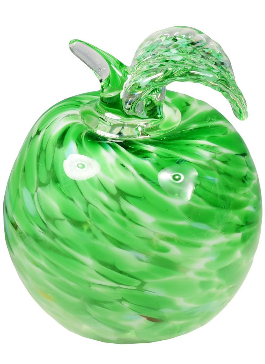 Сувенир стекло Яблоко зелёное (9 см)