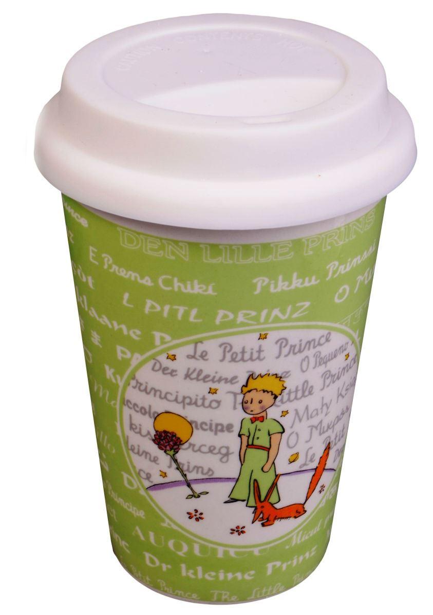 """Стакан керамический """"Маленький принц на зеленом фоне"""""""