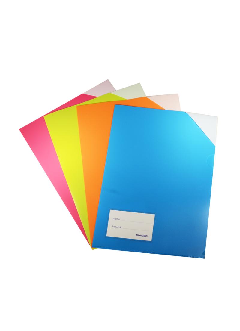 Папка-уголок А4, пластик 0,25мм, с карманом для визитки
