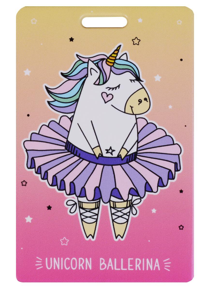 Чехол для карточек Unicorn ballerina розовый градиент