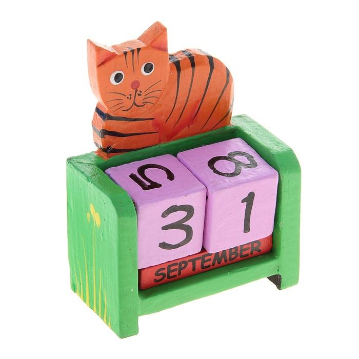 Календарь вечный дерево Полосатый кот (7х3,6х9) (870677) (Сима-ленд)