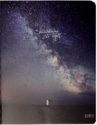 "Тетрадь ""Stars shining"", 80л"