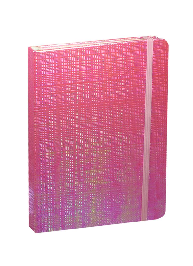 """Книга для записей А5 80л кл. """"Перламутр розовый"""" на резинке"""