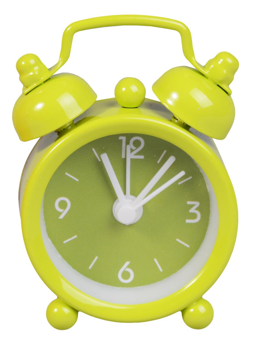 Мини-будильник Цветной циферблат (4см) (металл) (ПВХ бокс)