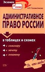 Административное право России в таблицах и схемах