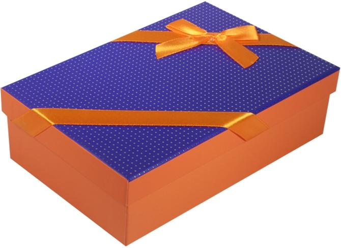 """Коробка подарочная """"Неон"""" фиолетовая 22*15*6,5см"""