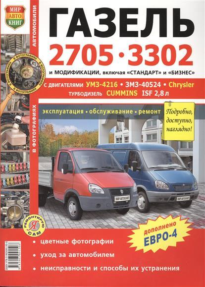Автомобили Газель 2705, 3302 с двигателями  УМЗ-4216, ЗМЗ-40524, Chrysler. Эксплуатация, обслуживание, ремонт
