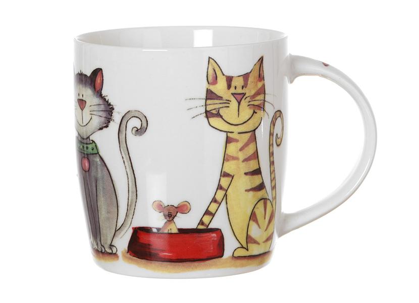 Кружка Смешные кошки (380мл) в подарочной упаковке (260-102) (Авангард)