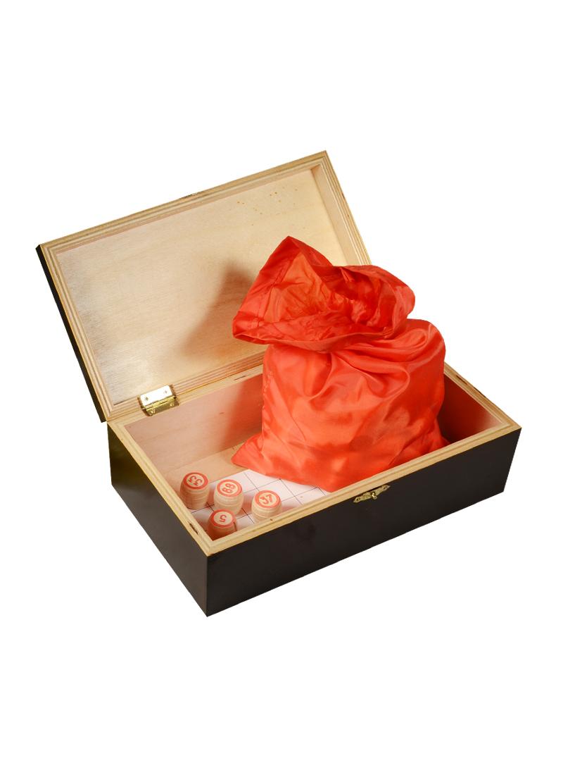 Игра Лото в подарочной деревянной коробке Охотники (14х25х8) (123-073)