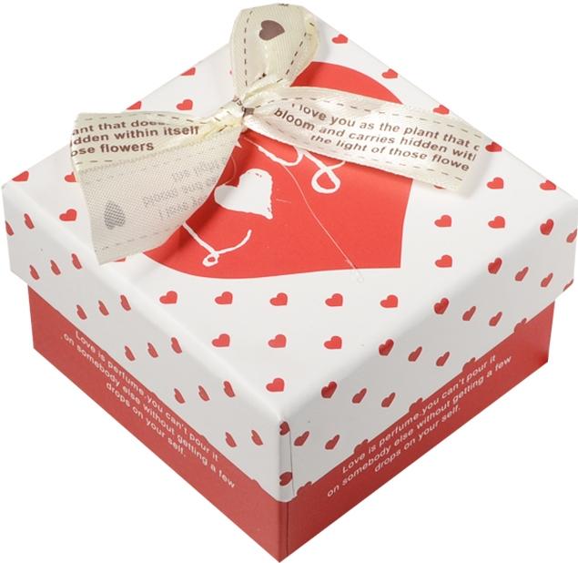 """Коробка подарочная """"С любовью"""" 11,5*11,5*7см"""