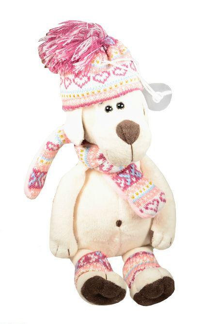 Мягкая игрушка Собачка Лапуська в шапочке (20 см) (OS075/20В)