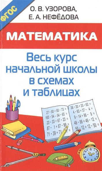 Узорова О., Нефедова Е. Математика. Весь курс начальной школы в схемах и таблицах цены онлайн
