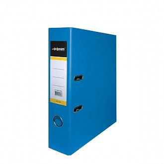 Папка архивная 75мм А4 ярко-синяя,PVC,прозр.карман,металл.уголки, inФОРМАТ