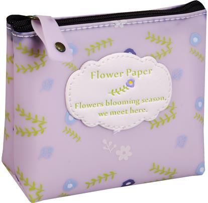 Кошелек на молнии Flower paper (13х10) (силикон) (ПВХ бокс)