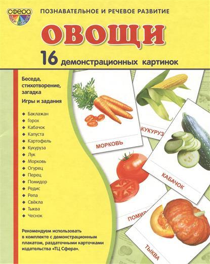 Овощи. 16 демонстрационных картинок