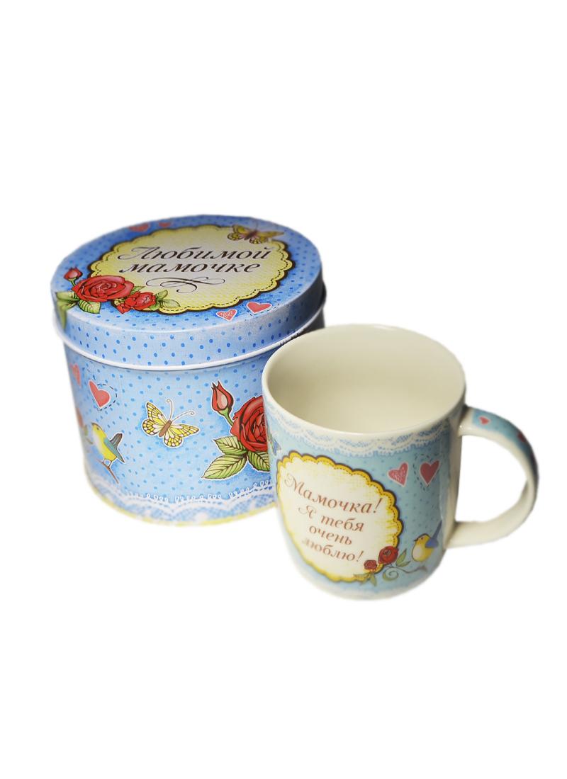 Кружка Любимой маме голубая в подарочной коробке (300мл) (669230) (Сима-ленд)