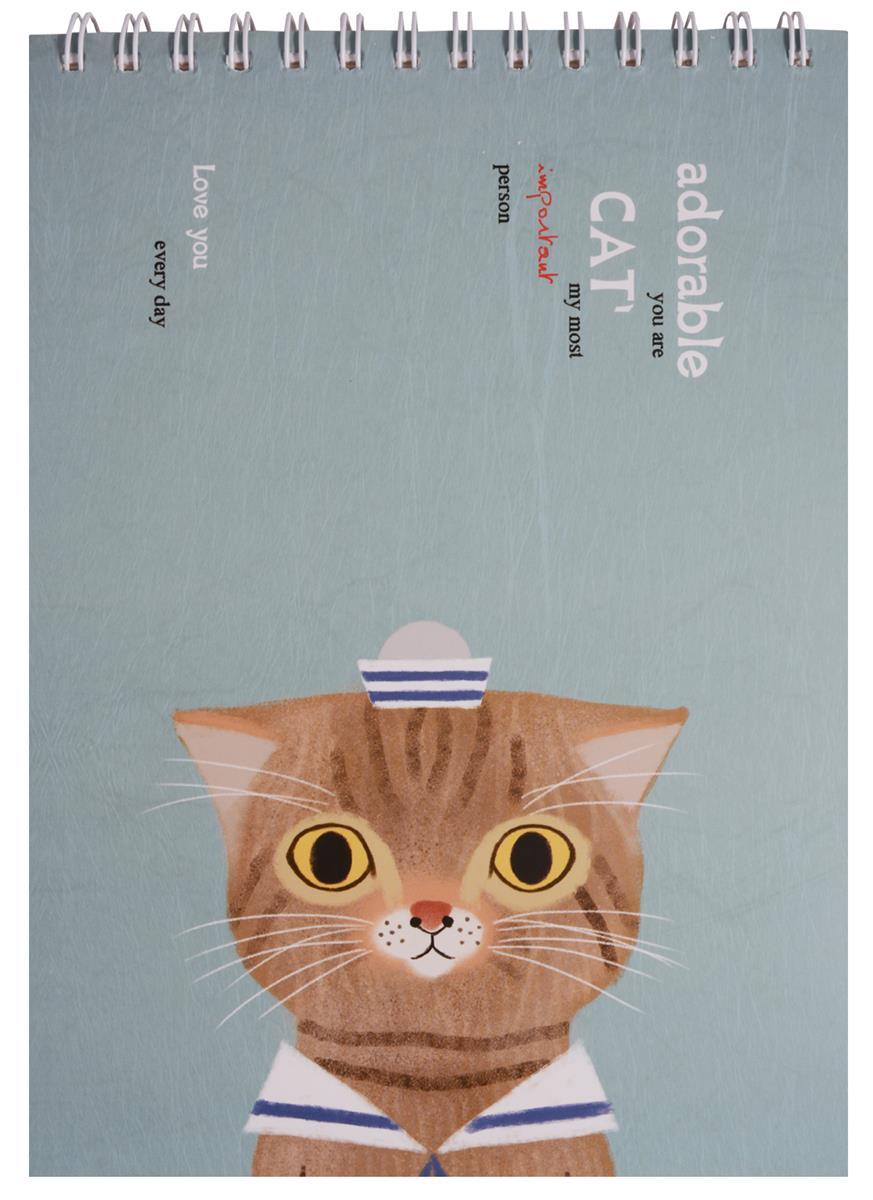 "Скетчбук ""Adorable  cat"""