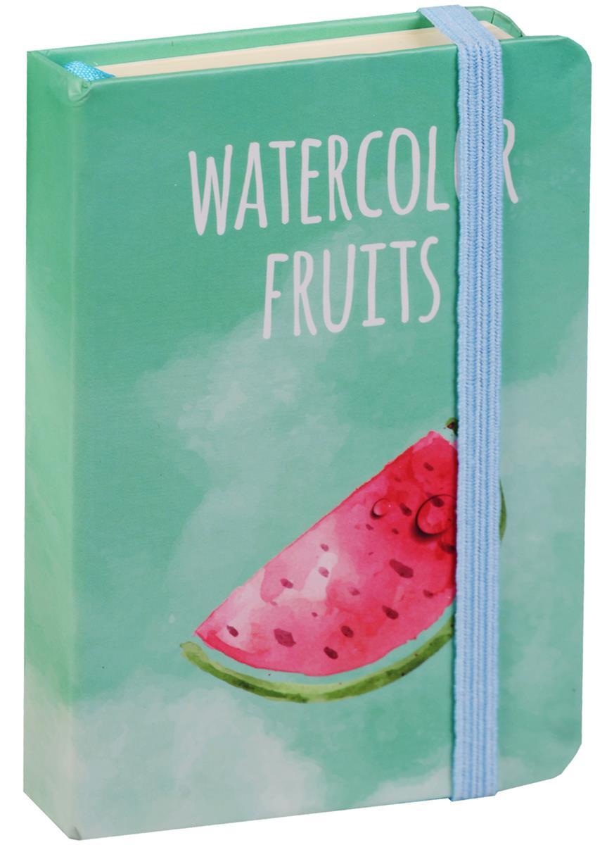 """Записная книжка """"Watercolor fruits"""" А7, 96 листов, клетка"""