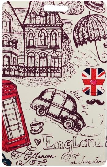 """Чехол для карточек """"London: Рисунок"""""""