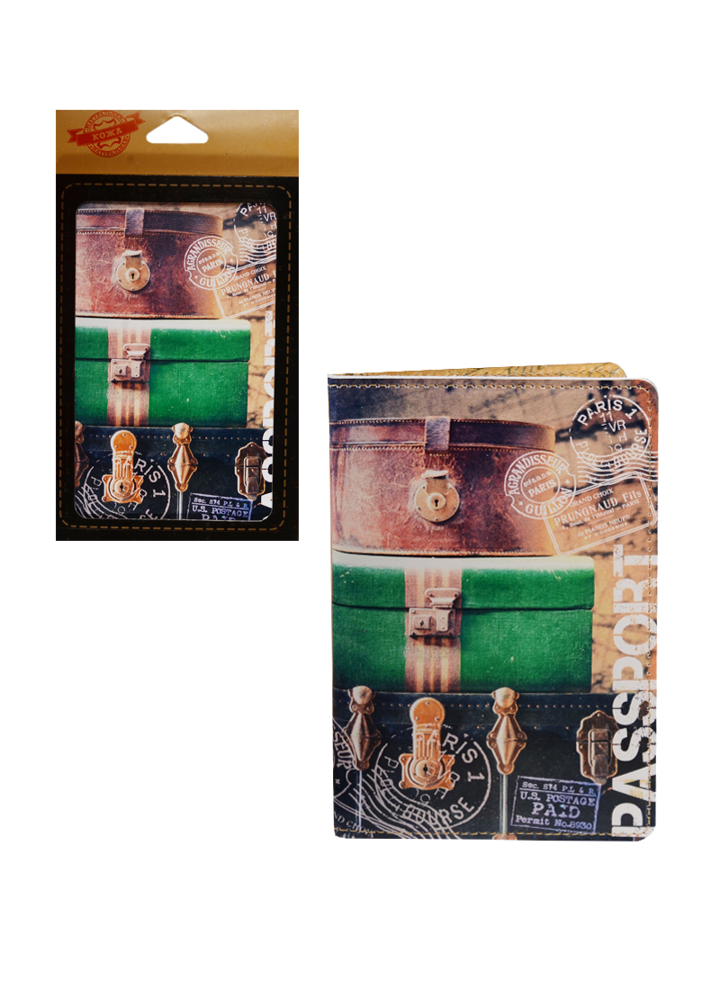 Обложка для паспорта кожа Вояж (20092)