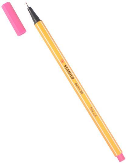 """Ручка капиллярная розовая """"Рoint"""" 0,4мм, STABILO"""