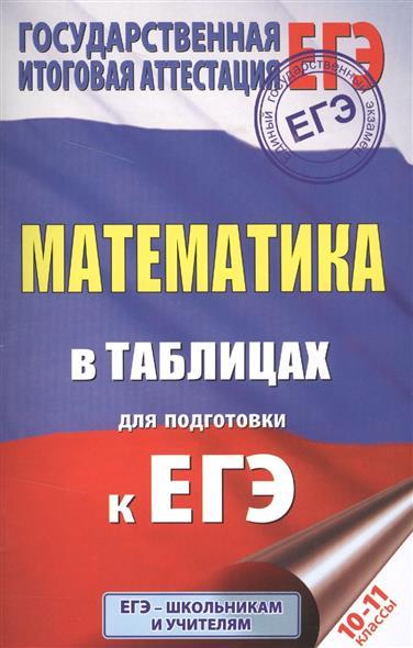 Математика в таблицах для подготовки к ЕГЭ. 10-11 классы